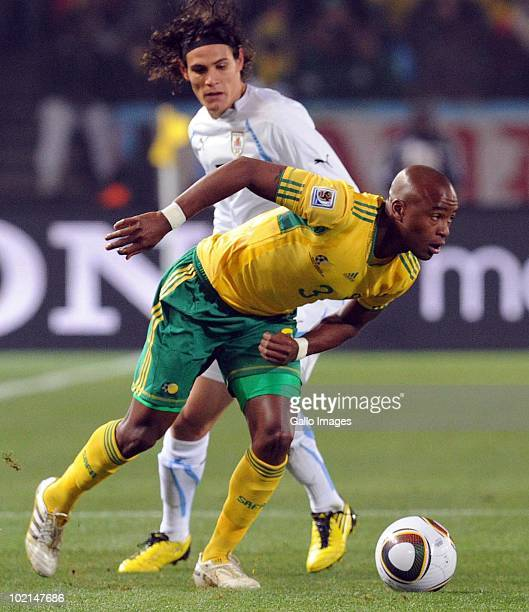 Tsepo Masilela of South Africa in action during the 2010 FIFA World Cup Group A match between South Africa and Uruguay from Loftus Versfeld Stadium...