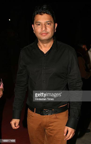 Series Chairman Bhushan Kumar at Press conference of upcoming film Aashiqui 2 at Laxmi Studious Film City on April 15 2013 in Noida India