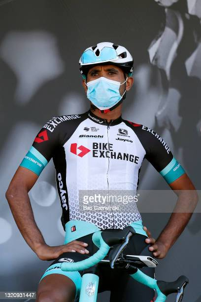 Tsgabu Gebremaryam Grmay of Ethiopia and Team BikeExchange at start in Brioude City during the 73rd Critérium du Dauphiné 2021, Stage 2 a 172,8km...