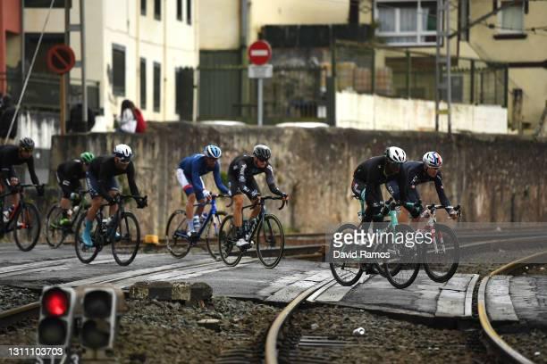 Tsgabu Gebremaryam Grmay of Ethiopia and Team BikeExchange & Ben Swift of United Kingdom and Team INEOS Grenadiers during the 60th Itzulia-Vuelta...