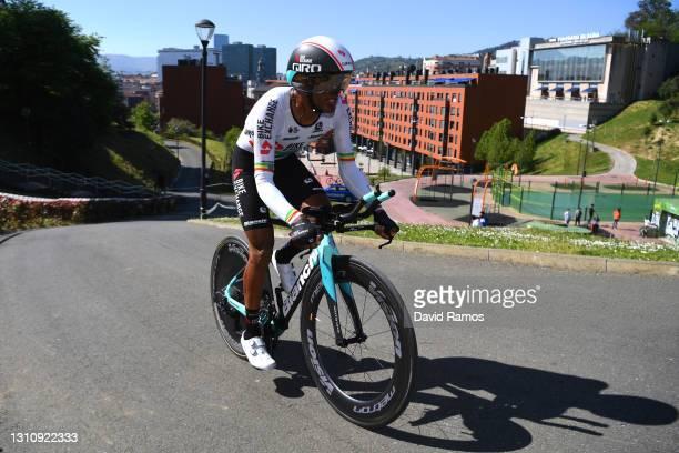 Tsgabu Gebremaryam Grmay of Ethiopia and Team BikeExchange during the 60th Itzulia-Vuelta Ciclista Pais Vasco 2021, Stage 1 a 13,9km individual time...