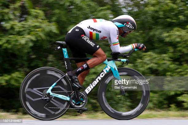 Tsgabu Gebremaryam Grmay of Ethiopia and Team BikeExchange during the 73rd Critérium du Dauphiné 2021, Stage 4 a 16,4km Individual Time Trial stage...