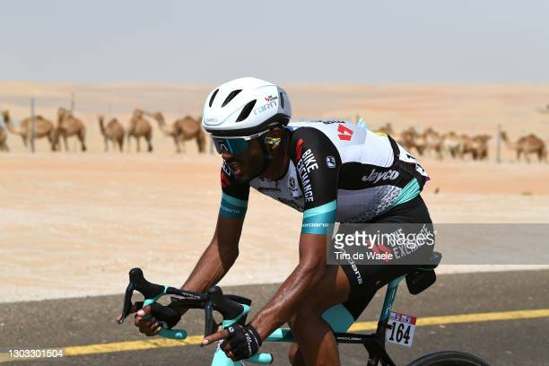 Tsgabu Grmay of Ethiopia and Team BikeExchange during the 3rd UAE Tour 2021, Stage 1 a 176km stage from Al Dhafra Castle to Al Mirfa / #UAETour / on...