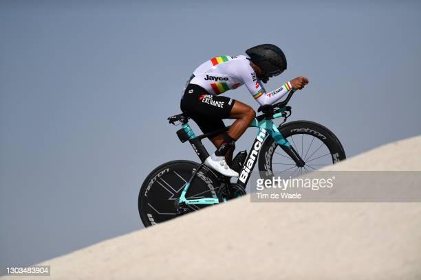 Tsgabu Grmay of Ethiopia and Team BikeExchange during the 3rd UAE Tour 2021, Stage 2 a 13km Individual Time Trial from Al Hudayriyat Island to Al...