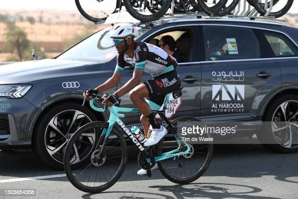 Tsgabu Grmay of Ethiopia and Team BikeExchange during the 3rd UAE Tour 2021, Stage 3 a 166km stage from Al Ain - Strata Manufacturing to Jebel Hafeet...