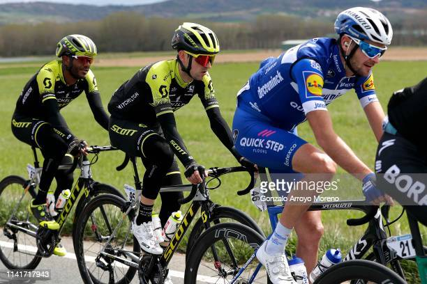 Tsgabu Grmay of Ethiopia and Team Mitchelton - Scott / Mikel Nieve Iturralde of Spain and Team Mitchelton - Scott / Pieter Serry of Belgium and Team...