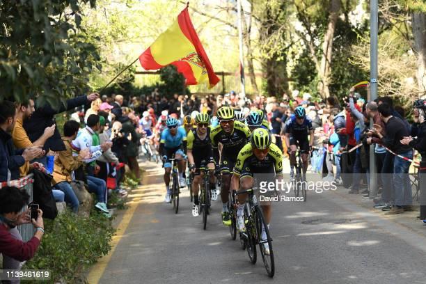 Tsgabu Grmay of Ethiopia and Team Mitchelton - Scott / Simon Yates of United Kingdom and Team Mitchelton - Scott / Johan Esteban Chaves Rubio of...