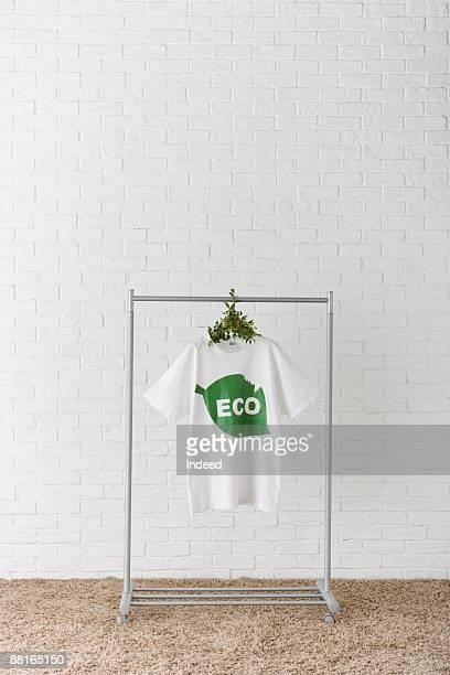 T-shirt hanging on rack