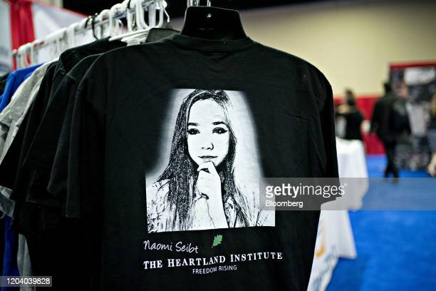 A tshirt of German activist Naomi Seibt sits on display in the exhibition hall during the Conservative Political Action Conference in National Harbor...