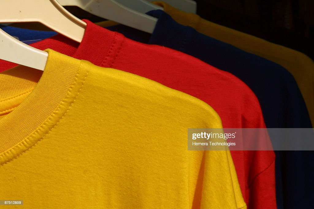 T-shirts in store : Stock Photo