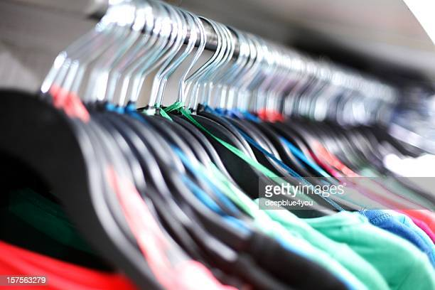 t-shirts on a hanger
