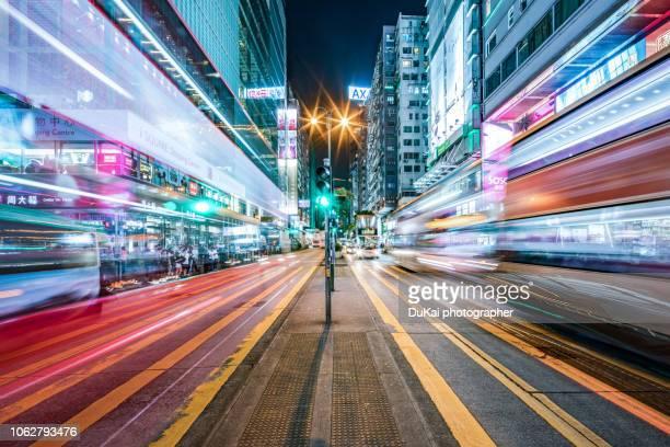 tsim sha tsui nathan road, hong kong - urban road stock pictures, royalty-free photos & images