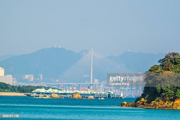 tsing ma bridge, hong kong - caroline pang stock pictures, royalty-free photos & images