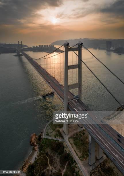tsing ma bridge - つり橋 ストックフォトと画像