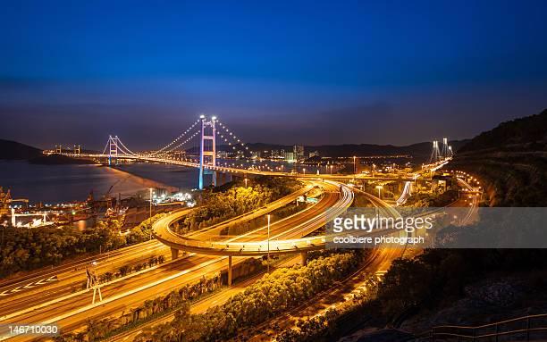 Tsingma bridge at night