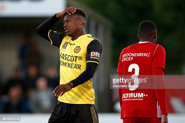 Tsiy William Ndenge of Roda JC during the Dutch Jupiler League match between Almere City v Roda JC at the Yanmar Stadium on May 10 2018 in Alemere...