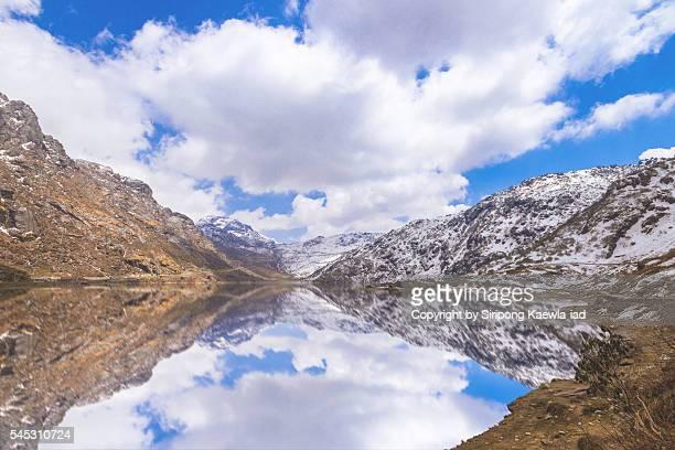 Tsomgo lake or Changu lake in the north Sikkim