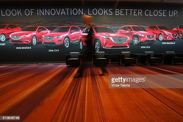 TORONTO ON FEBRUARY 11 Tstar 2016 auto show Industry people walking around before the VIP party at the 2016 Canadian International Auto Show held at...