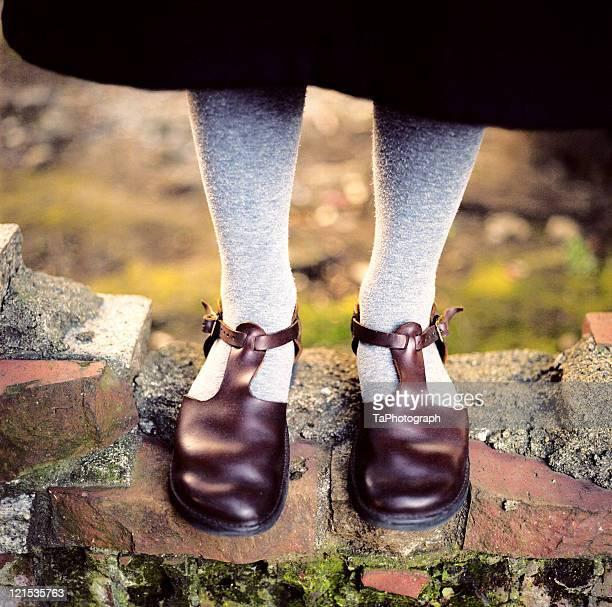 t-strap shoes - タイツ ストックフォトと画像