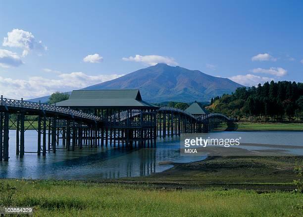 tsugaru fujimi lake, tsuruta, kitatsugaru, aomori, japan - präfektur aomori stock-fotos und bilder