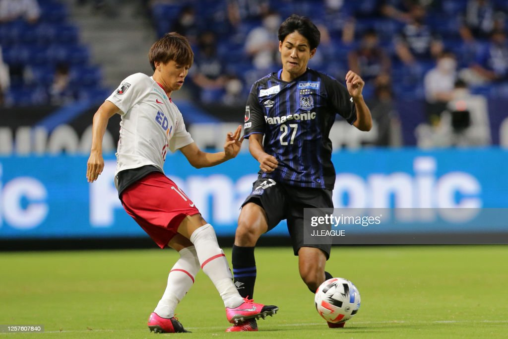 Tsukasa Morishima Of Sanfrecce Hiroshima And Ryu Takao Of Gamba Osaka News Photo Getty Images