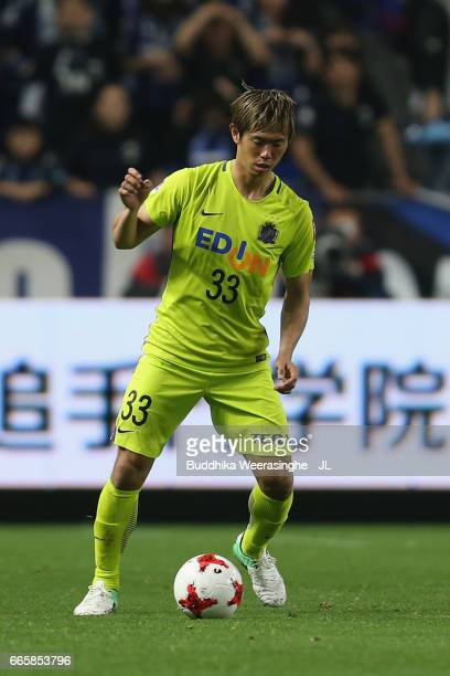 Tsukasa Shiotani of Sanfrecce Hiroshima in action during the JLeague J1 match between Gamba Osaka and Sanfrecce Hiroshima at Suita City Football...