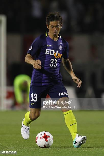 Tsukasa Shiotani of Sanfrecce Hiroshima in action during the JLeague J1 match between Sanfrecce Hiroshima and Vissel Kobe at Edion Stadium Hiroshima...