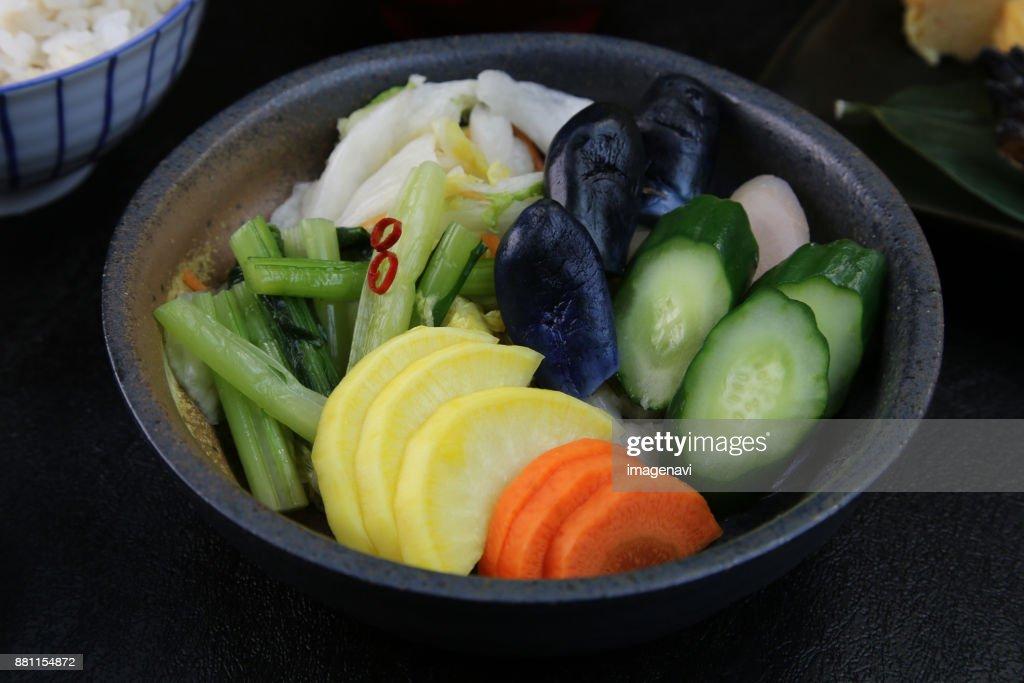 Tsukemono : Stock Photo