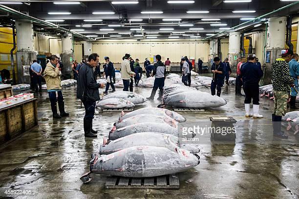 Marché aux poissons de Tsukiji à Tokyo, Japon