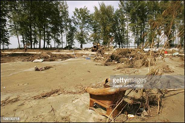 Tsunami Aftermath In Khao Lak On December 29 2004 In Khao Lak India In Khao Lak Police Operations Are Taking Place In Order To Find Clues Regarding...