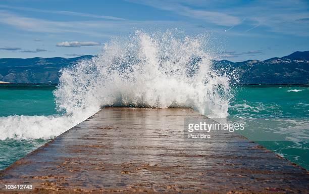 Tsunami on Adriatic Sea    Baska Town