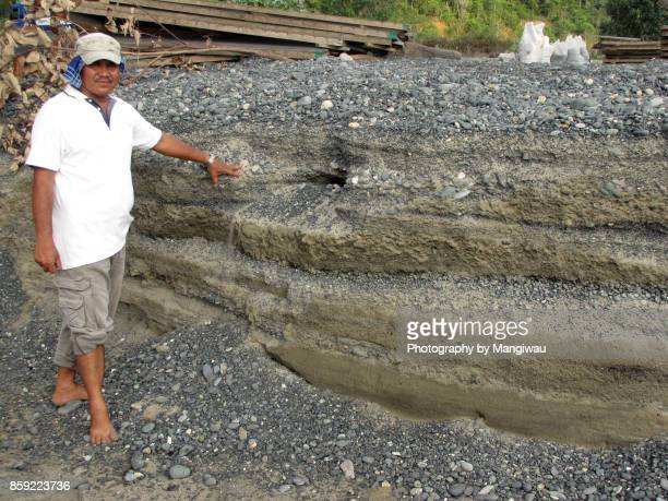tsunami sediment - plate tectonics stock photos and pictures