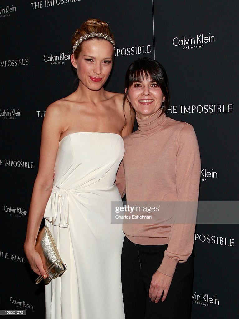 Tsunami survivors Petra Nemcova and Maria Belon attend 'The Impossible' screening at the Museum of Art and Design on December 12, 2012 in New York City.