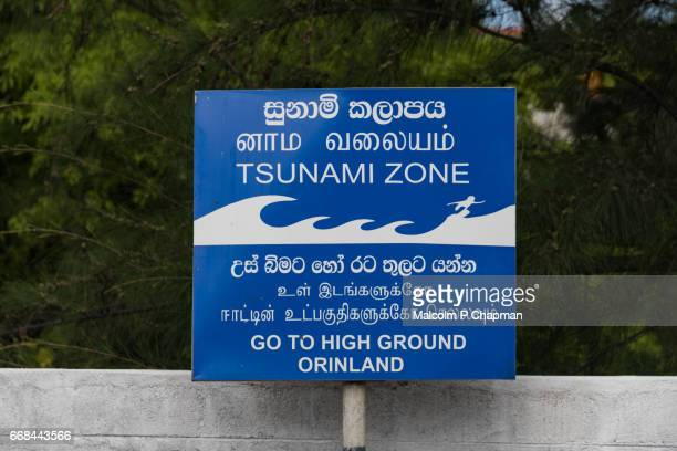 405 Tsunami Warning Sign Photos And Premium High Res Pictures Getty Images