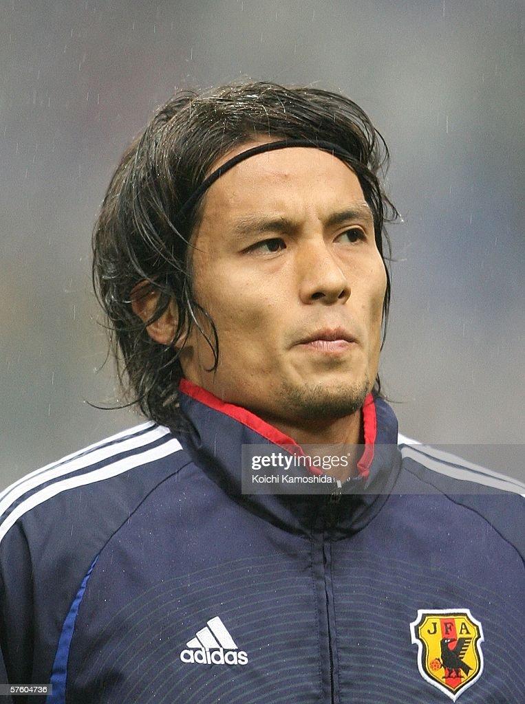 Tsuneyasu Miyamoto of Japan is seen during the Kirin Cup Soccer 2006 between Scotland and Japan at the Saitama stadium on May 13, 2006 in Saitama, Japan.