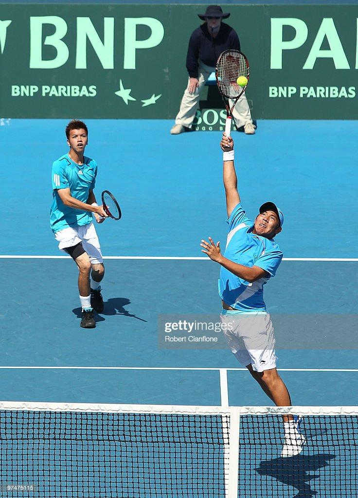 Australia v Chinese Taipei - Davis Cup Asia-Oceania Zone Group I - Day 2