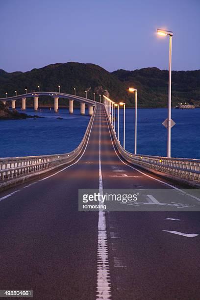 Tsunoshima Bridge at morning