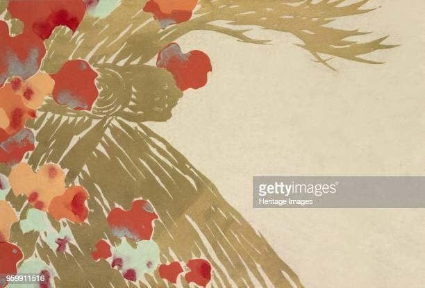 Tsuta fromMomoyogusa The World of Things Vol I pub1909 colour block woodcut Ivy