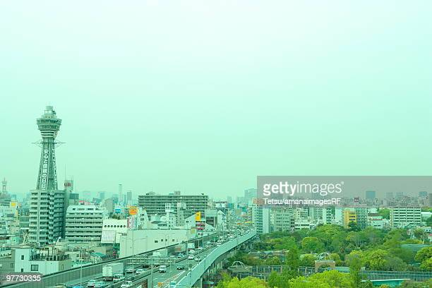 tsutenkaku and downtown - 通天閣 ストックフォトと画像