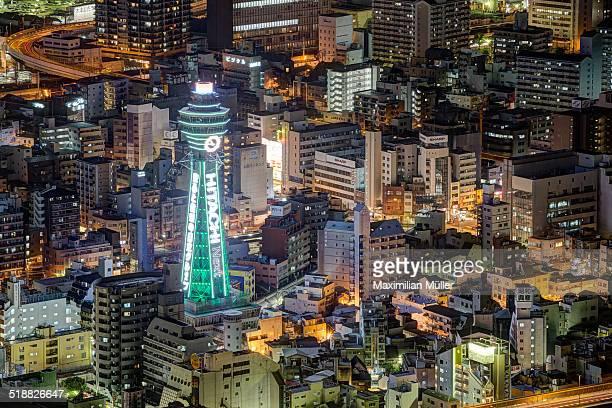 tsutenkaku tower, shinsekai, osaka - 通天閣 ストックフォトと画像