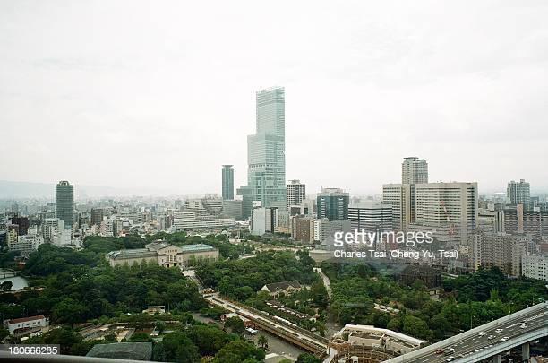 tsutenkaku view - 通天閣 ストックフォトと画像