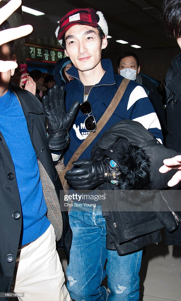 Tsuyoshi Kusanagi is seen at Gimpo International Airport on January 27, 2013 in Seoul, South Korea.