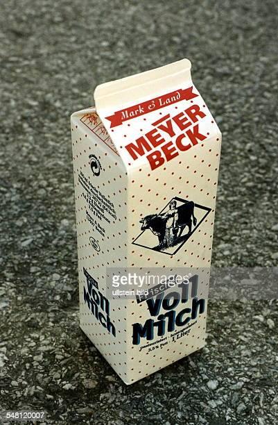 Tüte Milch der Supermarktkette Meyer Beck 1998