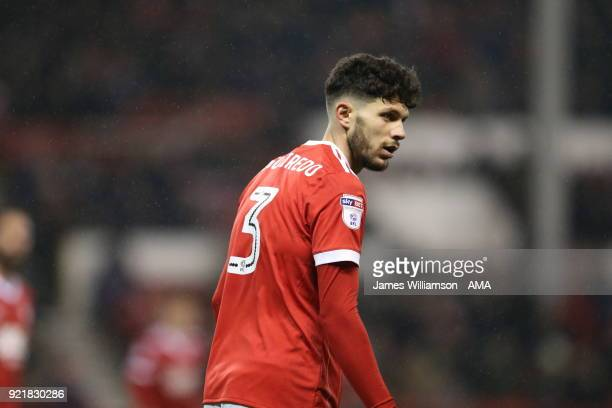TTobias Figueiredo of Nottingham Forest celebrates after scoring a goal to make it 11 during the Sky Bet Championship match between Nottingham Forest...