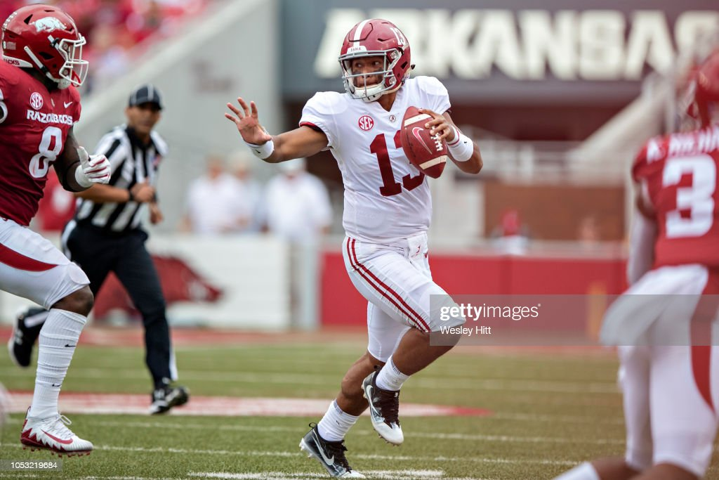 Alabama v Arkansas : News Photo