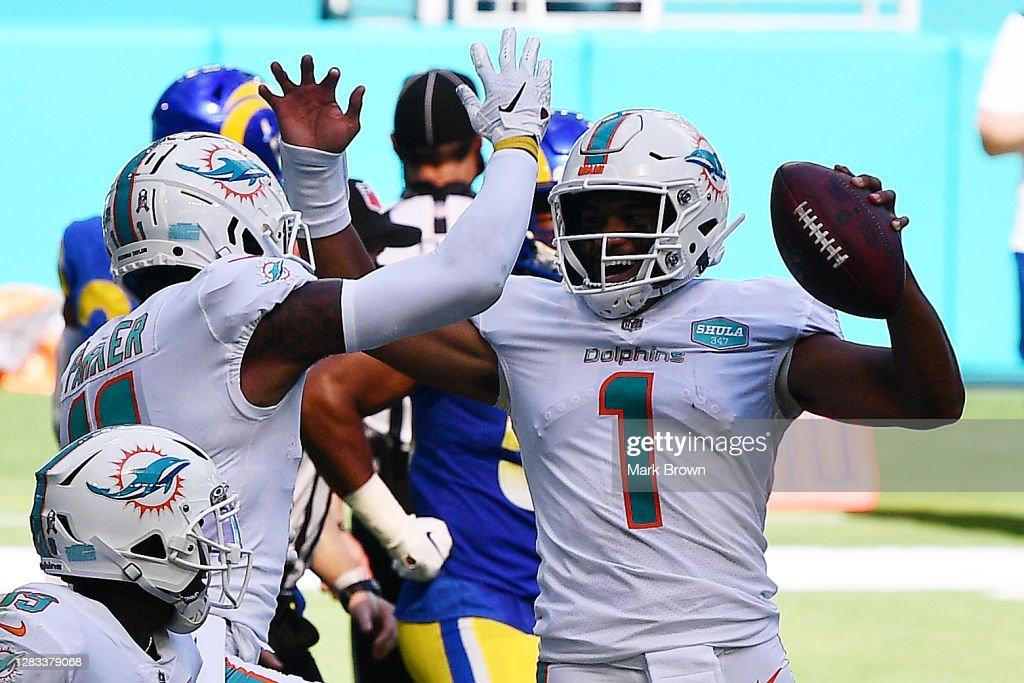 Los Angeles Rams v Miami Dolphins : Photo d'actualité