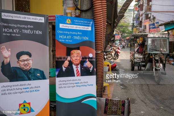 Tuan Duong Beauty Academy offers free haircuts to anyone wanting to copy the hairstyle of US President Donald Trump and North Korean leader Kim Jong...