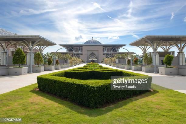PUTRAJAYA, MALAYSIA - July 15, 2018 : Tuanku Mizan Zainal Abidin Mosque in Putrajaya, Malaysia