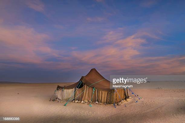 Tuareg camp in the desert near Ichmid