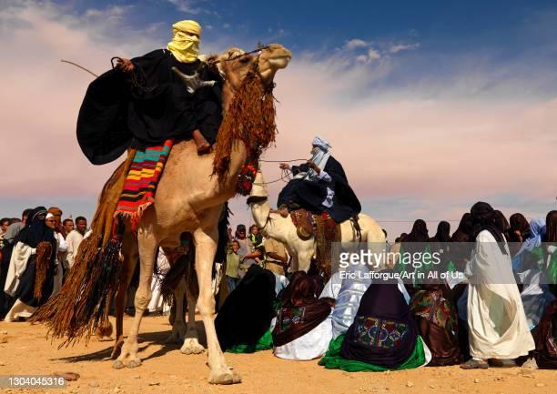 Tuareg dance with camels, Tripolitania, Ghadames, Libya on October 29, 2007 in Ghadames, Libya.